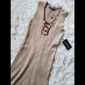 Dresses & Skirts - Tan sleeveless dress
